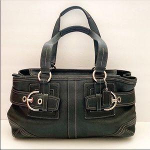 Coach black pebbled leather purse
